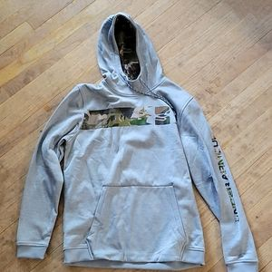 Under Armour Size L Hooded Gray & Camo Sweatshirt